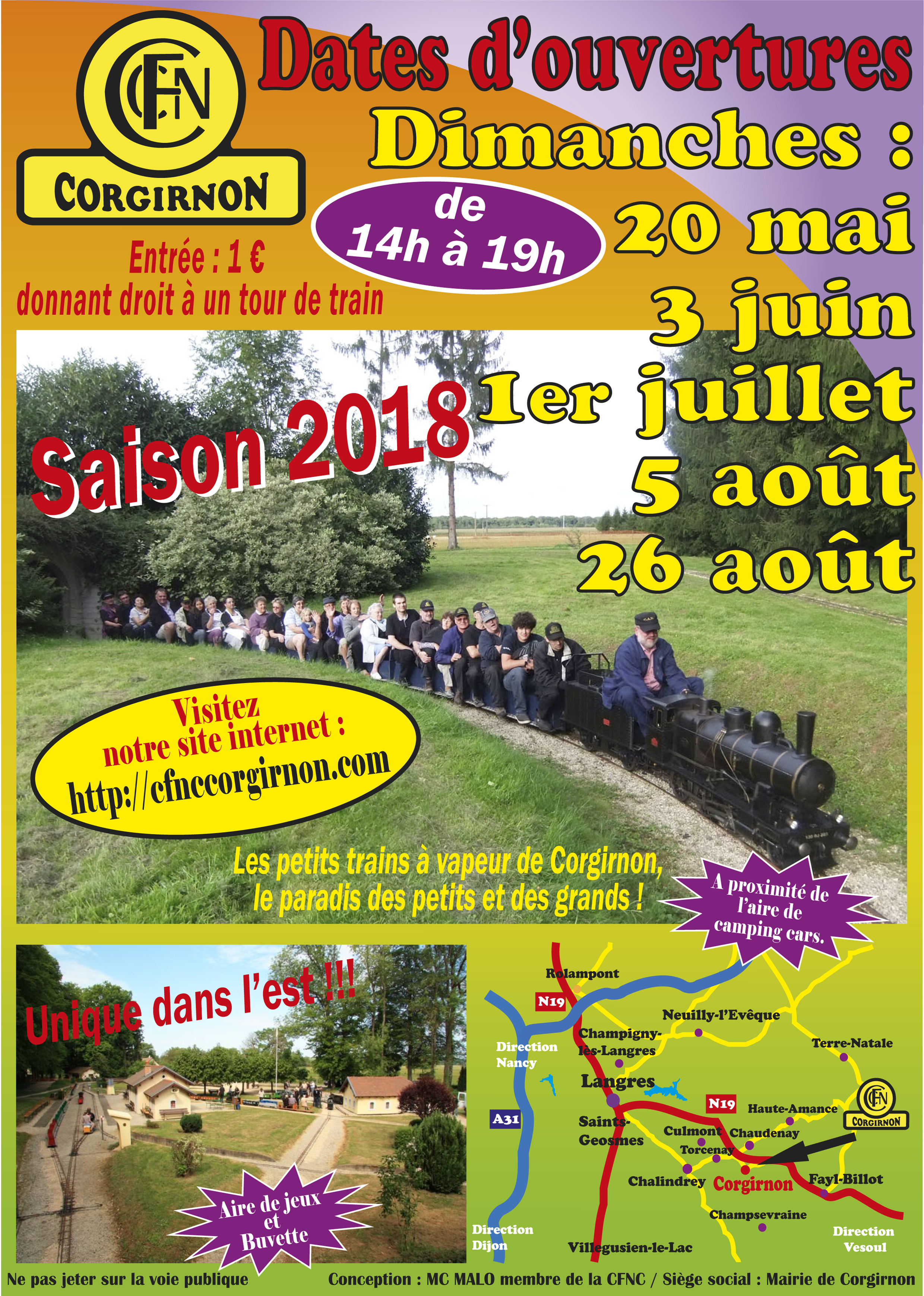 Dates Saison 2018