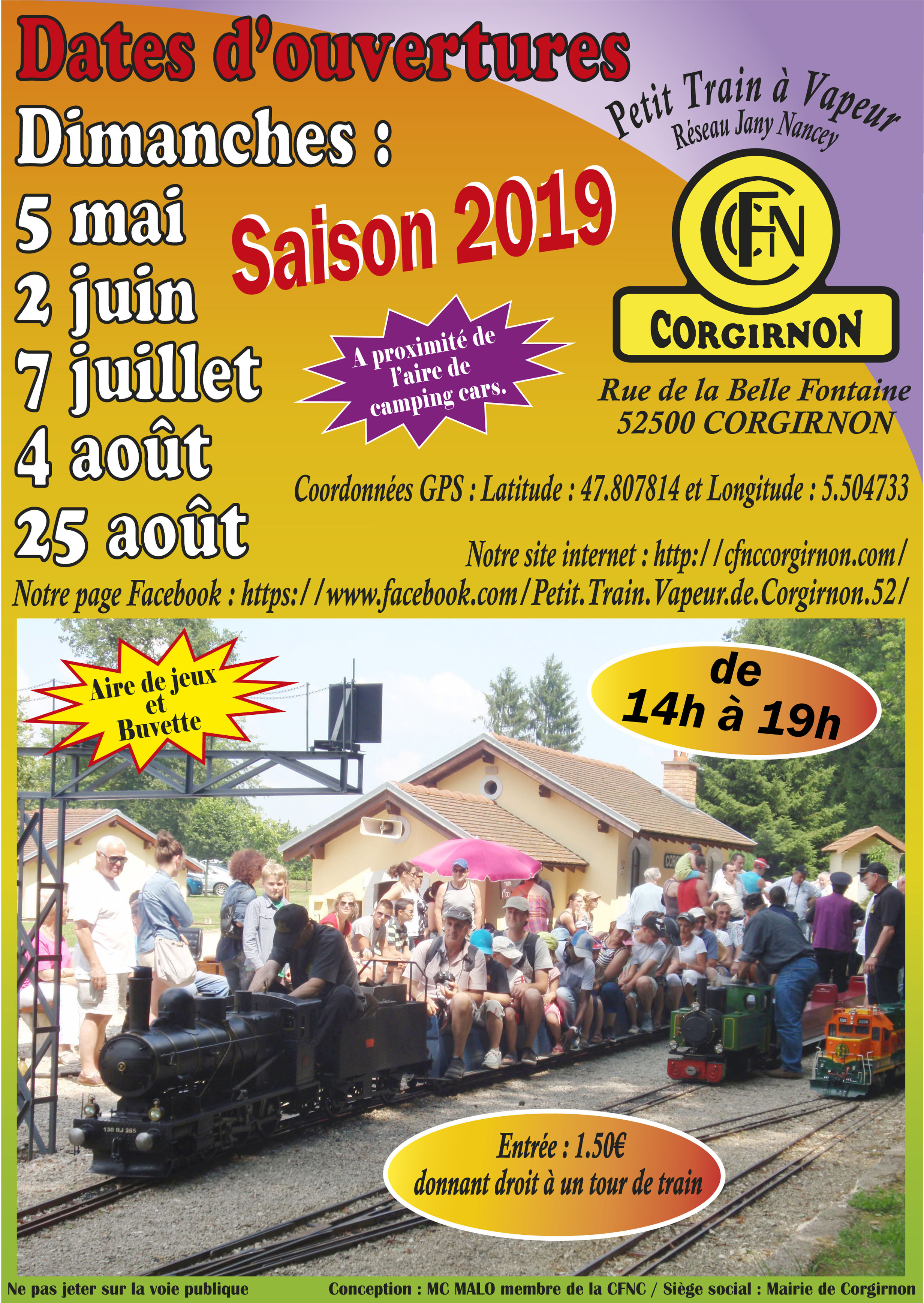 Dates Saison 2019